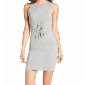Nordstrom grey ribbed dress